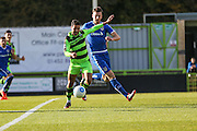 Forest Green Rovers Fabien Robert(26) prepares to shoot during the Vanarama National League match between Forest Green Rovers and Guiseley  at the New Lawn, Forest Green, United Kingdom on 22 October 2016. Photo by Shane Healey.