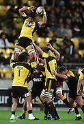 Hurricanes flanker Victor Vito collects lineout ball.<br /> Super 14 rugby match - Hurricanes v Chiefs at Westpac Stadium, Wellington. Saturday, 1 May 2010. Photo: Dave Lintott/PHOTOSPORT