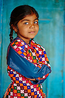 Inde, Gujarat, Kutch, village de Dhrang, population Ahir // India, Gujarat, Kutch, Dhrang village, Ahir ethnic group