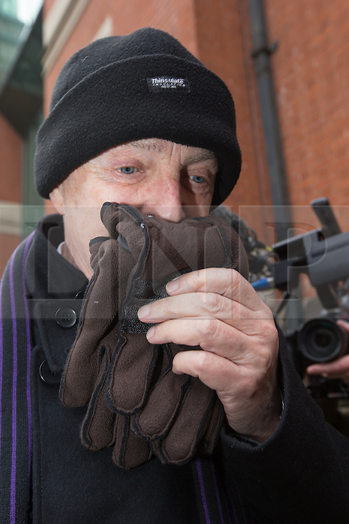 © Licensed to London News Pictures . 15/11/2013 . Manchester , UK . RAY TERET leaves Minshull Street Crown Court in Manchester today (15th November 2013) .  Teret , who is Jimmy Savile 's former chauffeur and flatmate , is charged 32 counts , including rape and sexual assault . He is charged alongside William Harper and Alan Ledger . Photo credit : Joel Goodman/LNP