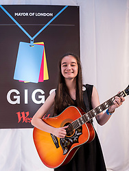© Licensed to London News Pictures. 04/09/2016. London, UK. Overall GIGS 2016 Grand Final winner, Clarissa Mae.  Young buskers take part in the Mayor of London's GIGS 2016 busking competition Grand Final, held at Westfield, Stratford where large crowds gathered to see the performances.  Photo credit : Stephen Chung/LNP