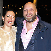 NLD/Amsterdam/20141108 - Inloop JFK Greatest Man of the Year 2014 award, Ruben van der Meer en partner Sally Lodewijks