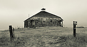 An old building  on the prairie near Wildhorse, Colorado