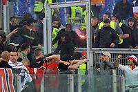 Scontri tra i tifosi del Milan e della Roma<br /> Roma vs Milan<br /> Campionato di Calcio serie A<br /> Stadio Olimpico, Roma, 07/05/2011<br /> Photo Antonietta Baldassarre Insidefoto