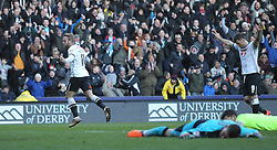 Johnny Russell of Derby County celebrates scoring his sides second goal - Mandatory byline: Jack Phillips/JMP - 05/03/2016 - FOOTBALL - iPro Stadium - Derby, England - Derby County v Huddersfield Town - Sky Bet Championship