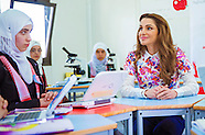 Queen Rania Visits Princess Taghreed Girls School
