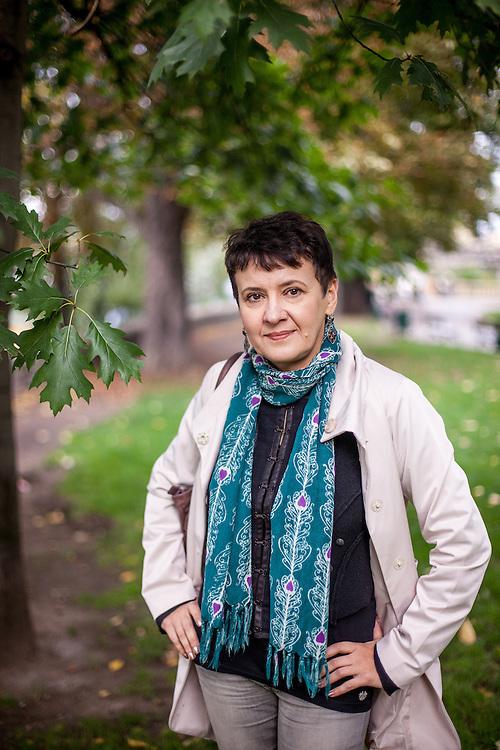 Schriftstellerin Oksana Zabuzhko in Prag.