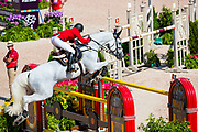 Daisuke Fukushima - Cornet<br /> FEI World Equestrian Games Tryon 2018<br /> © DigiShots