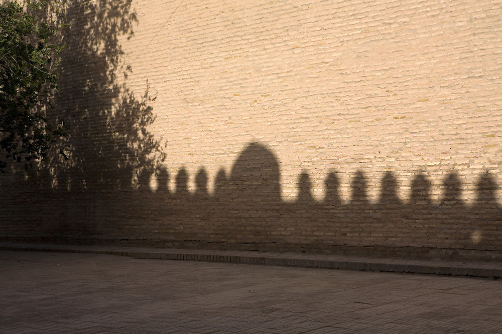 Shadow of city walls, Khiva