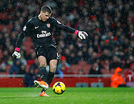 Picture by Mike  Griffiths/Focus Images Ltd +44 7766 223933<br /> 01/01/2014<br /> Wojciech Szczesny of Arsenal during the Barclays Premier League match at the Emirates Stadium, London.