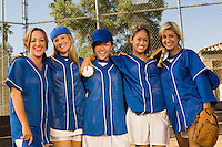 Softball Team Celebrating Victory
