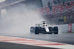 March 1, 2018 - Barcelona, Spain - SIROTKIN Sergey (rus), Williams F1 Mercedes FW41, action during Formula 1 winter tests 2018 at Barcelona, Spain from February 26 to March 01 - Photo Florent Gooden / DPPI  (Credit Image: © Hoch Zwei via ZUMA Wire)