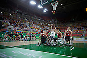Jordanna Bartlett for Great Britain vs Canada in the Group A Preliminary Womens Wheelchair basketball at the Rio Olympic Arena.  Rio 2016 Paralympic Games. Thursday 8th September 2016