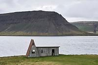Abandoned house in Fossfjörður, West fiords of Iceland.