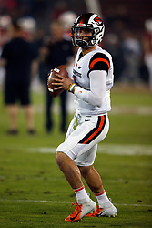 PALO ALTO, CA - NOVEMBER 10: Quarterback Conor Blount #2 of the Oregon State Beavers warms up before the game against the Stanford Cardinal at Stanford Stadium on November 10, 2018 in Palo Alto, California. The Stanford Cardinal defeated the Oregon State Beavers 48-17. (Photo by Jason O. Watson/Getty Images) *** Local Caption *** Conor Blount