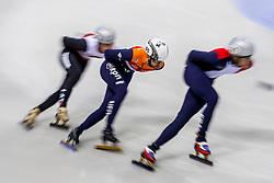 13-01-2018 DUI: ISU European Short Track Championships 2018 day 2, Dresden<br /> Relay mannen plaatsen zich voor de finale maar moeizaam, Itzhak de Laat NED #65