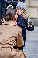 12-3-2017 - STOCKHOLM - The Crown Princess  name day<br />  Crownprincess Victoaria with prince Daniel and Princess Estelle and prince Oscar during Name<br /> day 2017 at The Inner Courtyard, the Royal Palace of Stockholm . Copyright Robin Utrecht <br /> <br /> 2017/12/03 - STOCKHOLM - The kroon prinses naamdag<br />  kroonprinses  Victoaria met prins Daniel en Prinses Estelle en prins Oscar tijdens Naam<br /> dag 2017 op de binnenplaats, het Koninklijk Paleis van Stockholm. Copyright Robin Utrecht 12-3-2017 - STOCKHOLM - The Crown Princess  name day<br />