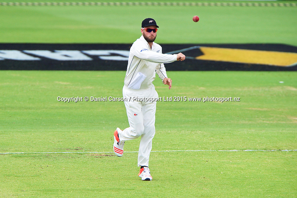 Mark Craig of the New Zealand Black Caps fields during Day 5 on the 17th of November 2015. The New Zealand Black Caps tour of Australia, 2nd test at the WACA ground in Perth, 13 - 17th of November 2015.   Photo: Daniel Carson / www.photosport.nz