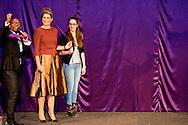 5-2-2015 ALMERE Koningin M&aacute;xima opent donderdag 5 februari 2015 het beroepenfeest van Almere On Stage voor VMBO leerlingen in het Topsportcentrum in Almere-Poort. Zij zal ook in gesprek gaan met leerlingen en beroepsbeoefenaren gedurende het evenement.  COPYRIGHT ROBIN UTRECHT<br /> 5-2-2015 ALMERE Queen M&aacute;xima opens Thursday, February 5th, 2015 working party Almere On Stage for secondary students in Topsportcentrum in Almere Poort. It will also engage with students and professionals throughout the event. COPYRIGHT ROBIN UTRECHT