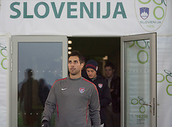 Carlos Manuel Bocanegra of USA during practice session of U.S. National football team 1 day before friendly game against Slovenia, on November 14, 2011 in SRC Stozice, Ljubljana, Slovenia.  (Photo By Vid Ponikvar / Sportida.com)