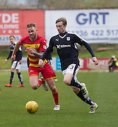Dundee&rsquo;s Craig Wighton goes past Partick Thistle&rsquo;s Christie Elliot - Partick Thistle v Dundee, Ladbrokes Premiership at Firhill<br /> <br /> <br />  - &copy; David Young - www.davidyoungphoto.co.uk - email: davidyoungphoto@gmail.com