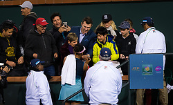 March 9, 2019 - Indian Wells, USA - Naomi Osaka of Japan signs autographs after winning her second-round match at the 2019 BNP Paribas Open WTA Premier Mandatory tennis tournament (Credit Image: © AFP7 via ZUMA Wire)