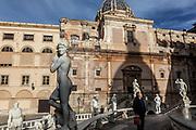 Palermo, Fontana Pretoria in heart of Palermo
