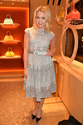 POPPY JAMIE at the opening party for Moynat's new Maison de Vente in Mayfair at 112 Mount Street, London W1 on 12th March 2014.