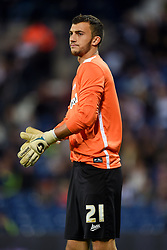 File photo dated 26/08/14 of goalkeeper Max Crocombe, who has been sent off for urinating during a non-league match for Salford City.
