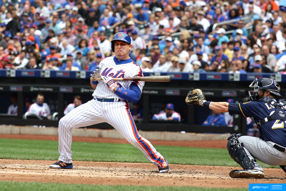 NEW YORK, NEW YORK - May 22:  Asdrubal Cabrera #13 of the New York Mets batting during the Milwaukee Brewers Vs New York Mets regular season MLB game at Citi Field on May 22 2016 in New York City. (Photo by Tim Clayton/Corbis via Getty Images)