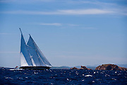Meteor sailing in the Loro Piana Superyacht Regatta.