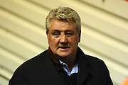 Hull City manager Steve Bruce during the Sky Bet Championship match between Birmingham City and Hull City at St Andrews, Birmingham, England on 3 March 2016. Photo by Alan Franklin.
