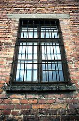 POLAND AUSCHWITZ AUG96 - A window at the 'Torture Block' at Auschwitz camp I.<br /> <br /> jre/Photo by Jiri Rezac<br /> <br /> © Jiri Rezac 1996<br /> <br /> Tel:   +44 (0) 7050 110 417<br /> Email: info@jirirezac.com<br /> Web:   www.jirirezac.com