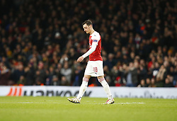 March 14, 2019 - London, England, United Kingdom - Mesui Ozil of Arsenal .during Europa League Round of 16 2nd Leg  between Arsenal and Rennes at Emirates stadium , London, England on 14 Mar 2019. (Credit Image: © Action Foto Sport/NurPhoto via ZUMA Press)