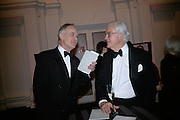 Christopher Kenyon and Sir Kenneth Baker, The Royal Academy Schools dinner and auction. Royal Academy. London. 27 March 2007.  -DO NOT ARCHIVE-© Copyright Photograph by Dafydd Jones. 248 Clapham Rd. London SW9 0PZ. Tel 0207 820 0771. www.dafjones.com.