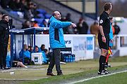 Chester's manager Jon McCarthy during the FA Trophy 2nd round match between Chester FC and Forest Green Rovers at the Deva Stadium, Chester, United Kingdom on 14 January 2017. Photo by Shane Healey.