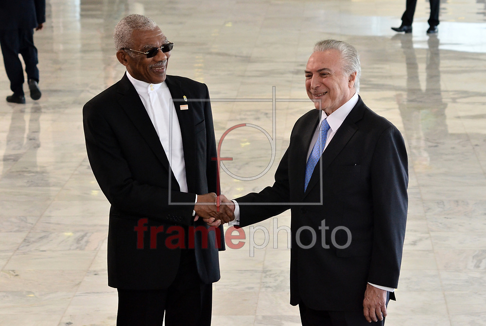 O pres,Michel temer recebe, o senhor David Granger, Presidente da República Cooperativa da Guiana . Foto: Renato Costa / FramePhoto