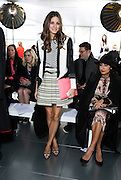 Day 3 LFW.Olivia Palermo Preen front row  at the top of the Heron Tower ,London Fashion Week AW13 Sunday 17, February 2013.