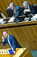 Leader of the Parliamentary Group NEOS Matthias Strolz speaks during a presentation of the new foreign minister and tightening of asylum law at Austrian Parliament Building, Innere Stadt<br /> Picture by EXPA Pictures/Focus Images Ltd 07814482222<br /> 27/04/2016<br /> ***UK &amp; IRELAND ONLY***
