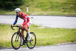 Aljaz Omrzel during Slovenian Road Cycling Championship in time trial 2020 on June 28, 2020 in Zg. Gorje - Pokljuka, Slovenia. Photo by Peter Podobnik / Sportida.