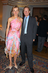 The EARL & COUNTESS OF DERBY at the Bruce Oldfield Crimestoppers Party held at Spencer House, 27 St.James's Place, London SW1 on 22nd September 2005.<br />