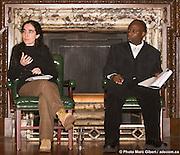 Irène Petras et Andrew Makoni, lauréats du John Humphrey 2008 -  old chansler day hall - McGill University / Montreal / Canada / 2008-11-25, © Photo Marc Gibert / adecom.ca