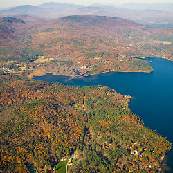 The northern end of Newfound Lake and Mount Crosby in Hebron and Groton, New Hampshire.