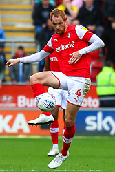 Shaun MacDonald of Rotherham United hoofs the ball upfield - Mandatory by-line: Ryan Crockett/JMP - 05/10/2019 - FOOTBALL - Aesseal New York Stadium - Rotherham, England - Rotherham United v Coventry City - Sky Bet League One