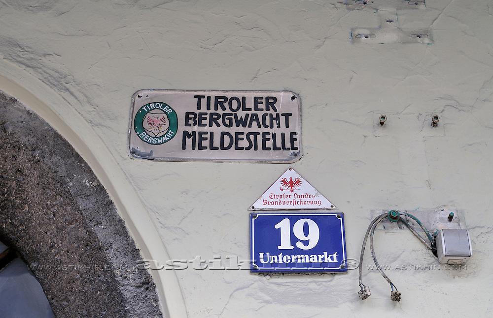 On the street of Telfs, Tirol