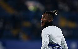 Michy Batshuayi of Chelsea during the warm up - Mandatory by-line: Arron Gent/JMP - 21/01/2020 - FOOTBALL - Stamford Bridge - London, England - Chelsea v Arsenal - Premier League
