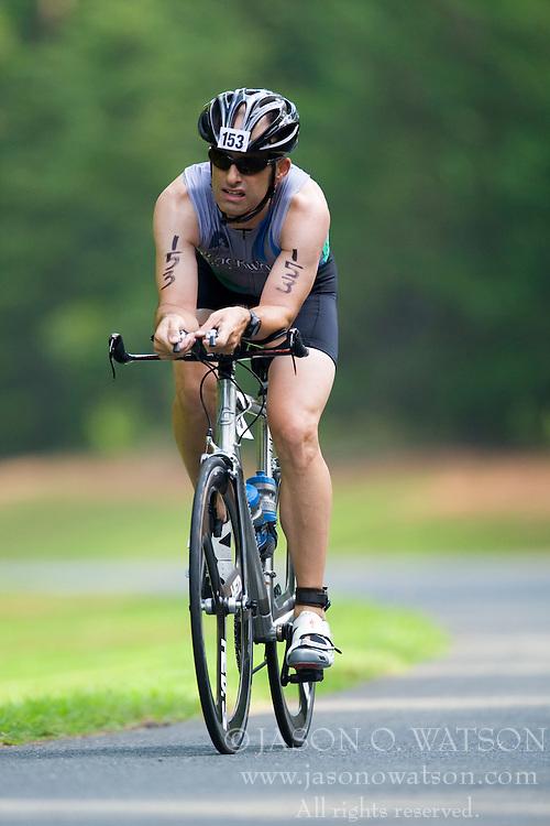 CHARLOTTESVILLE, VA - July 27, 2008 - FRANK SELDEN in The 2008 Charlottesville International Triathlon was held at Walnut Creek Park in Albemarle County near Charlottesville, Virginia, USA.