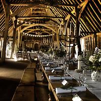 Debbie & Dave's wedding reception in an old barn in Suffolk England
