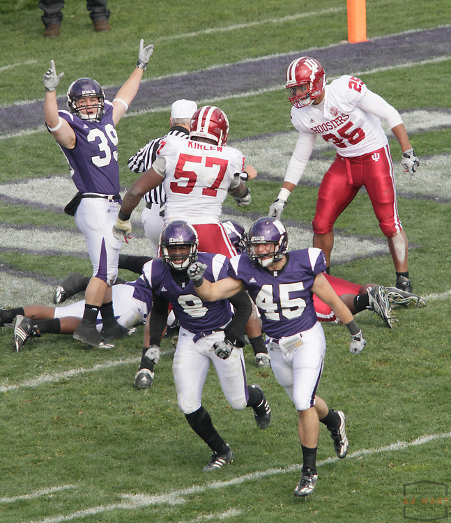 24 October 2009: Northwestern running back Jacob Schmidt (39) as the Northwestern Wildcats played the Indiana Hoosiers in a college football game in Evanston, Ill.