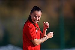 NEWPORT, WALES - Tuesday, November 6, 2018: Wales' Natasha Harding during a training session at Dragon Park ahead of two games against Portugal. (Pic by Paul Greenwood/Propaganda)